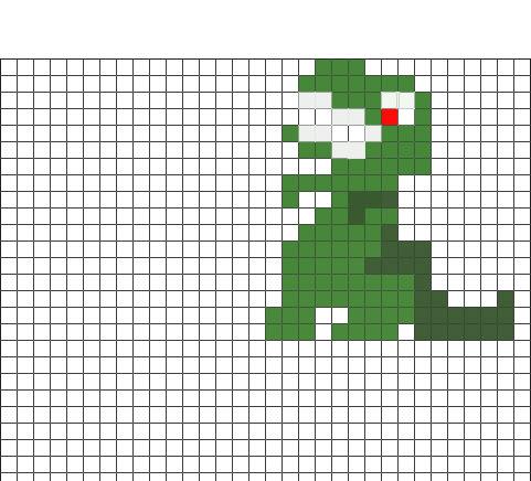 t rex pixel art